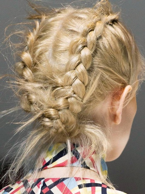 double french plait
